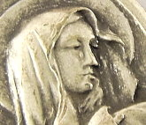 "100/Pc Blessed Virgin Mary LIMITED Our Lady of Tears Medal GENUINE Silver Oxidized-Premium Medals - 1"" In Height - Most Popular Oval Design From Italy-Die Cast for Exceptional Detail and Silver Oxidized Dimensional Finish Can Wear Around Neck or..."