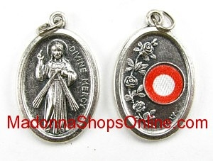 Divine Mercy Relic Medal 3rd class Silver Oxidized Medal
